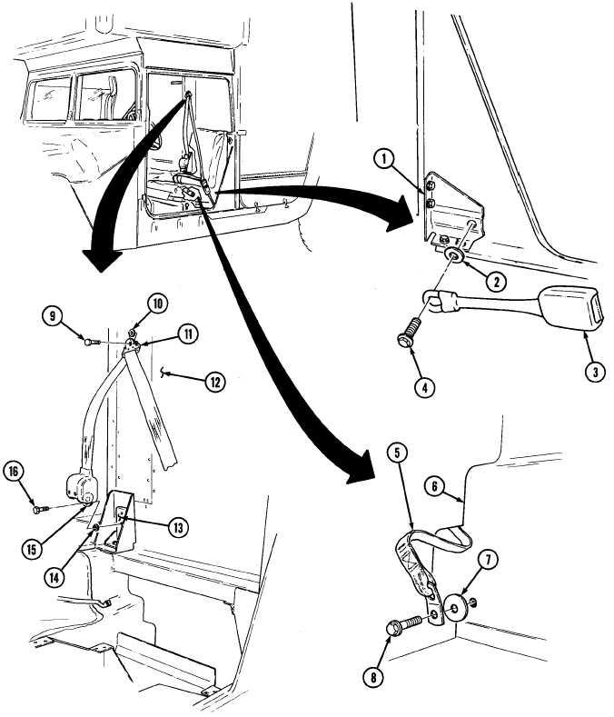 Three Point Seatbelt Maintenance M996 M996a1 M997 M997a1 And