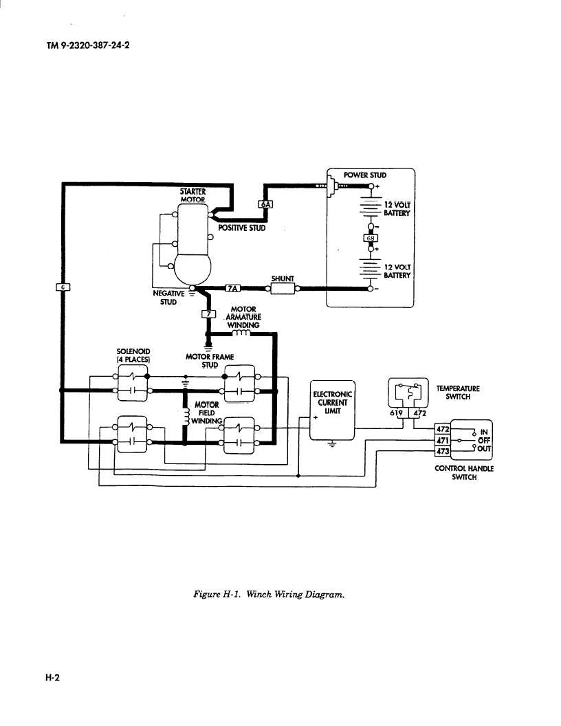 Wiring Diagram 12 Volt Winch : Figure h l winch wiring diagram