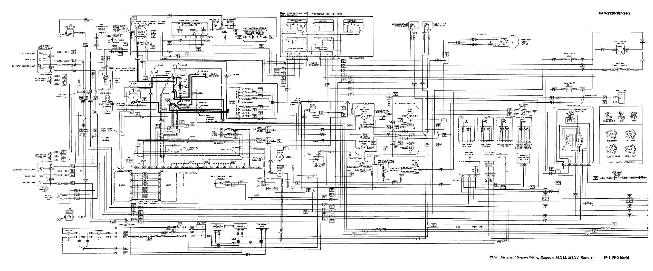 FO-1. Electrical System Wiring Diagram