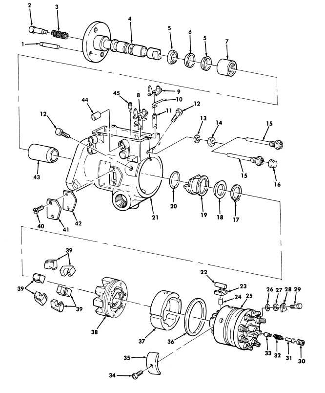 Figure 22  Fuel Injection Pump Housing, Head and Rotor